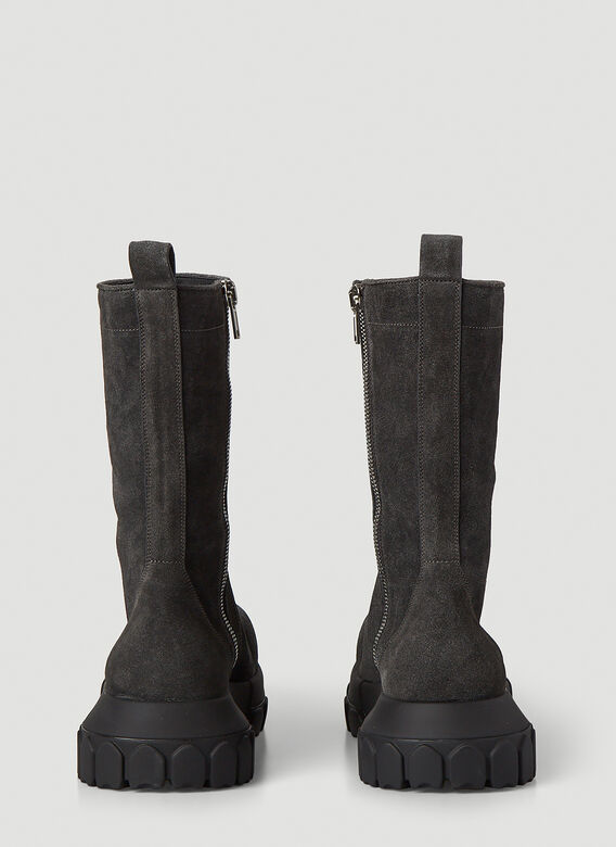 Rick Owens Bozo Tractor Suede Boots 4