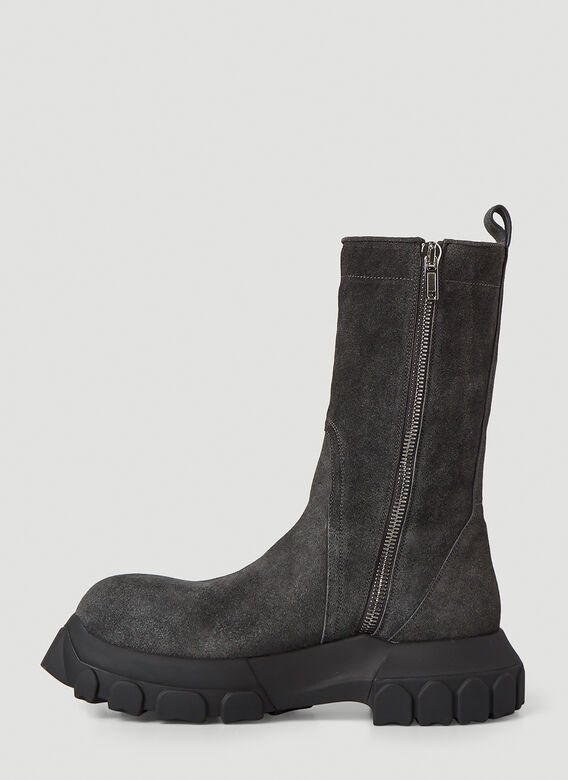 Rick Owens Bozo Tractor Suede Boots 3