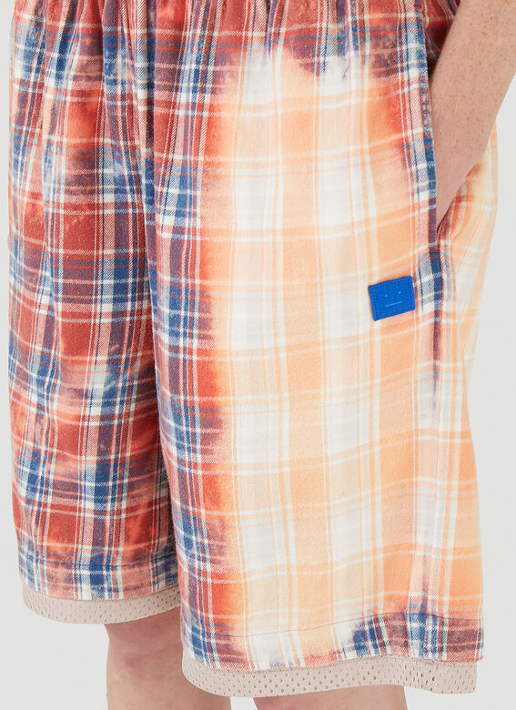 Acne Studios Bleached Check Shorts 5