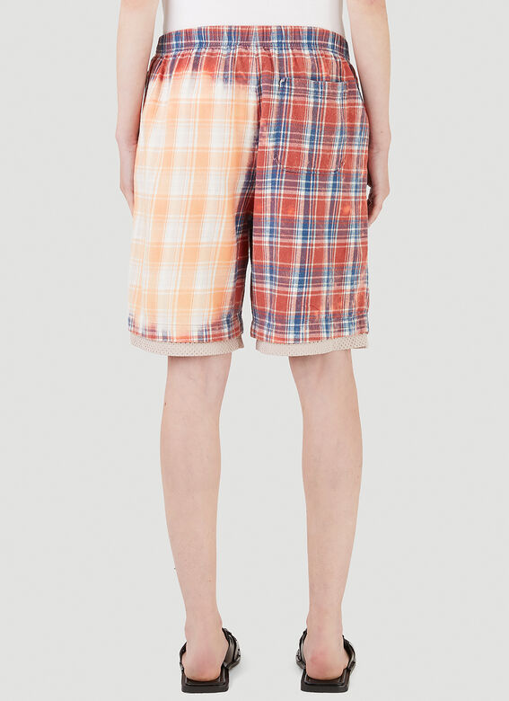 Acne Studios Bleached Check Shorts 4