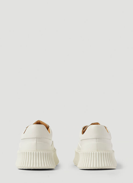 Jil Sander Ribbed-Sole Leather Sneakers 4