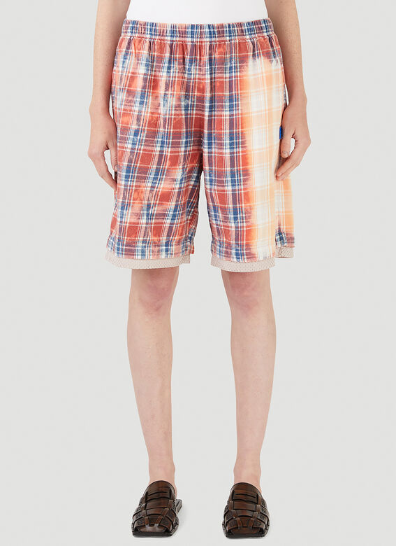 Acne Studios Bleached Check Shorts 1