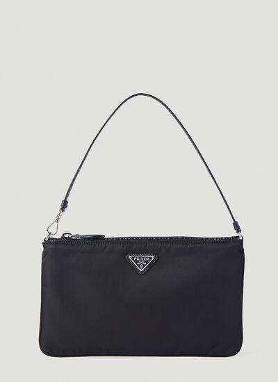 Prada Re-Nylon Leather-Trimmed Pouch