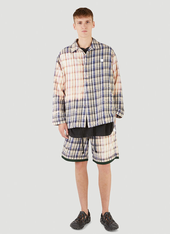 Acne Studios Bleached Check Shorts 2
