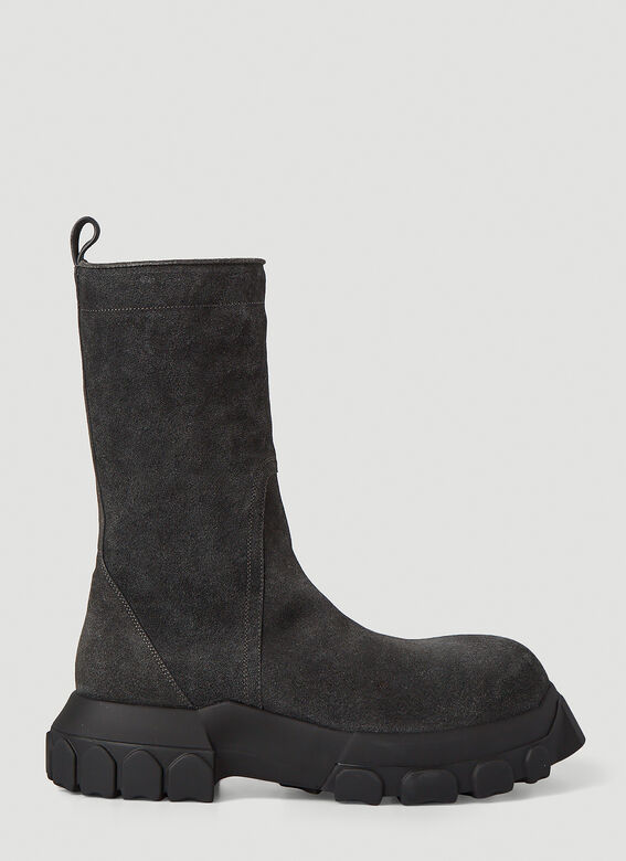 Rick Owens Bozo Tractor Suede Boots 1