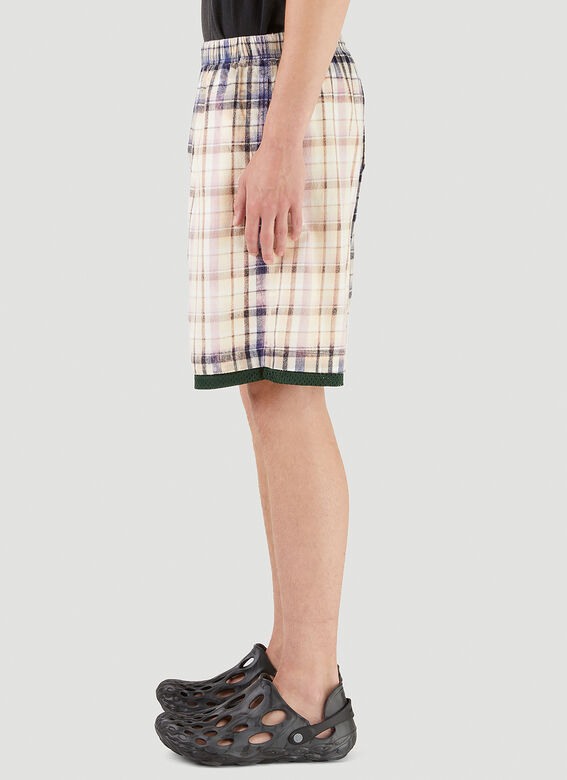 Acne Studios Bleached Check Shorts 3