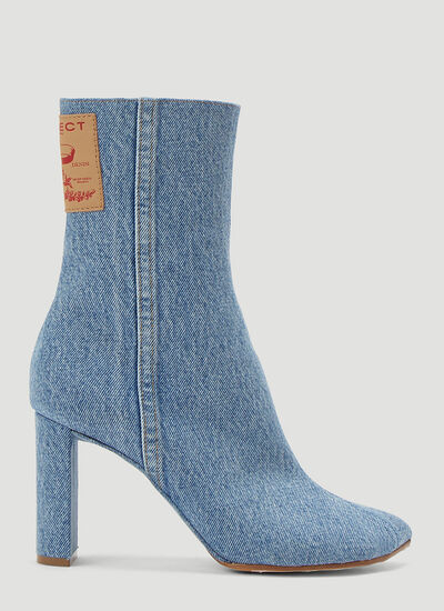Y/Project Denim Heeled Boots