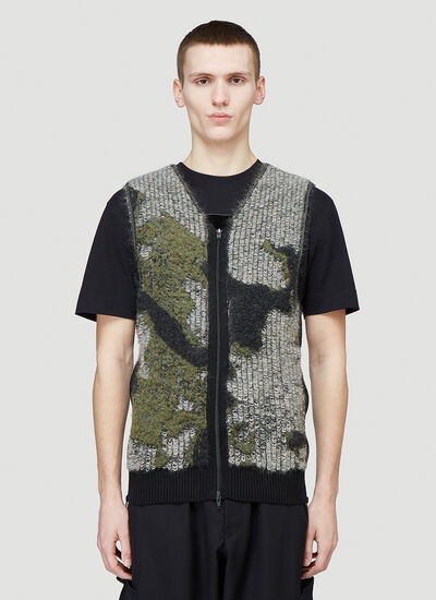 Y-3 Engineered-Knit Zipped Vest