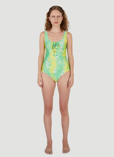GANNI Recycled Printed Swimsuit