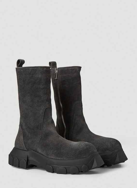 Rick Owens Bozo Tractor Suede Boots 2