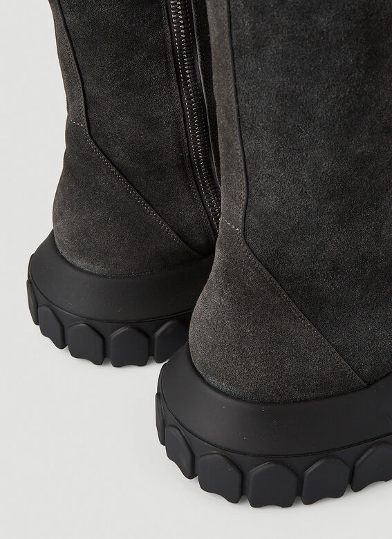 Rick Owens Bozo Tractor Suede Boots 5
